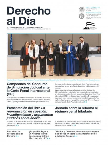 Tapa de Derecho al Día - Edición 304