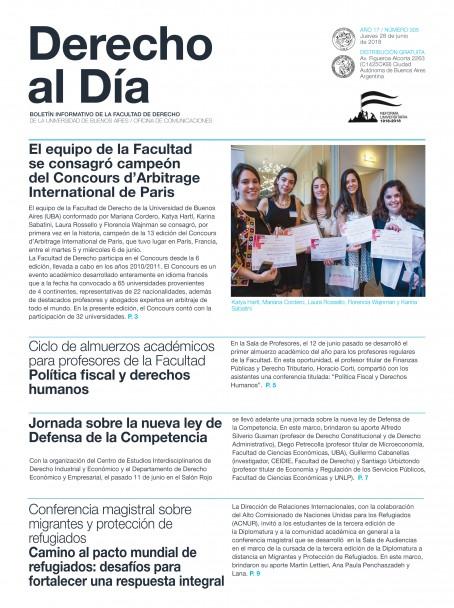 Tapa de Derecho al Día - Edición 305