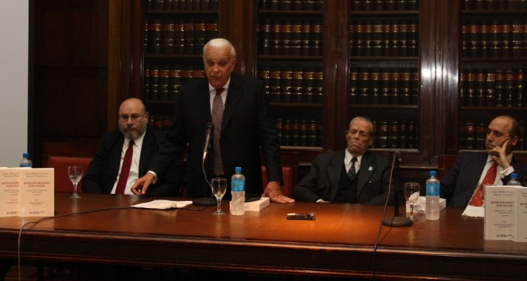Miguel A. Piedecasas, Julio Rivera, Jorge Mosset Iturraspe y Alberto Spota