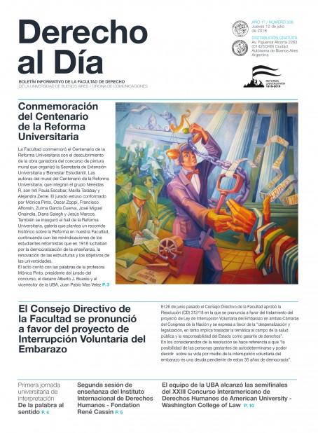 Tapa de Derecho al Día - Edición 306