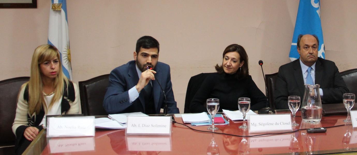 Noelia Ruiz, I. Díaz Solimine, Ségolène du Closel y Osvaldo Pitrau