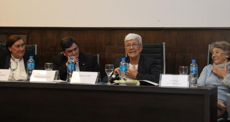 Silvina González Napolitano, Gabriel Valladares, Mónica Pinto y Hortensia Gutierrez Posse