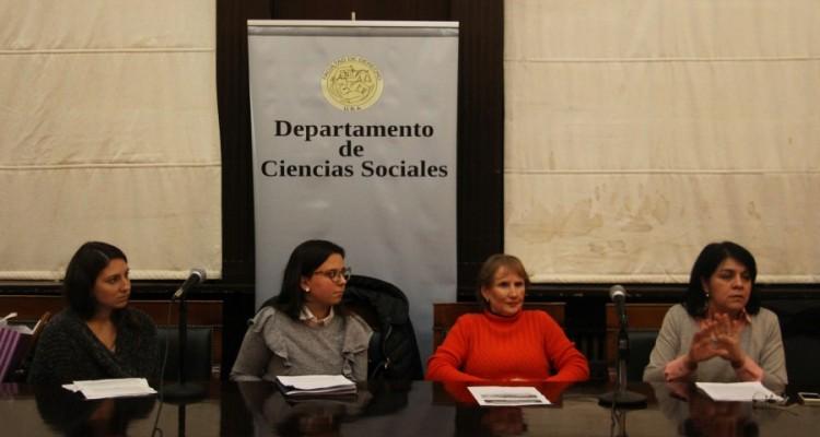 Melina González, Brenda Espiñeira, Elizabeth Silva y Natalia Stringini