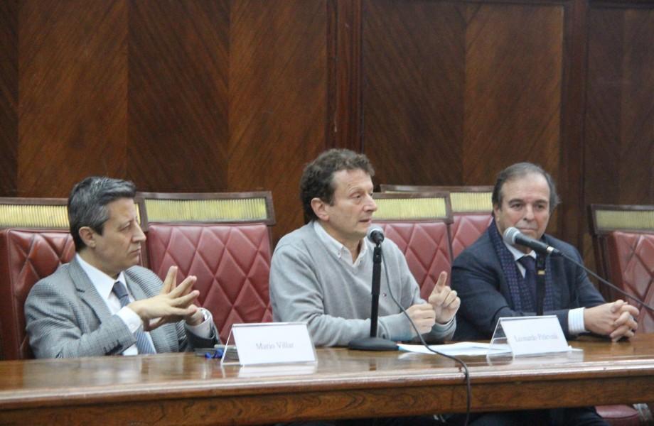 Mario Villar, Leonardo Pitlevnik y Marcelo Gebhardt