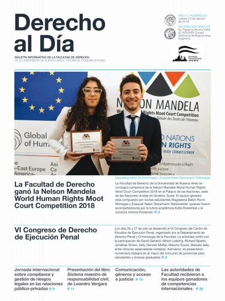 Tapa de Derecho al Día - Edición 307