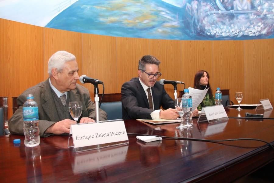 Enrique Zuleta Puceiro, Juan Pablo Alonso y Gabriela Scataglini