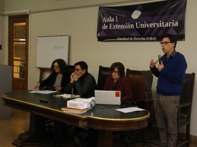 Ana María Falu, Gerardo Pisarello, Cristina Cravino y Sebastián Tedeschi