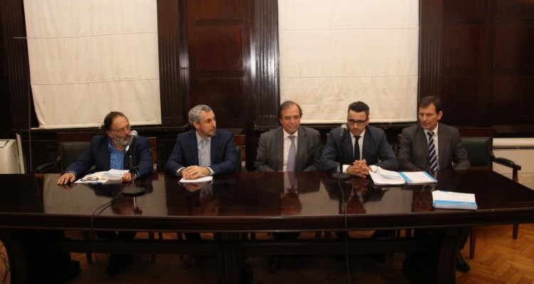 Eduardo Jiménez, Guido Risso, Marcelo Gebhardt, Pablo Lega y Alejandro Spessot
