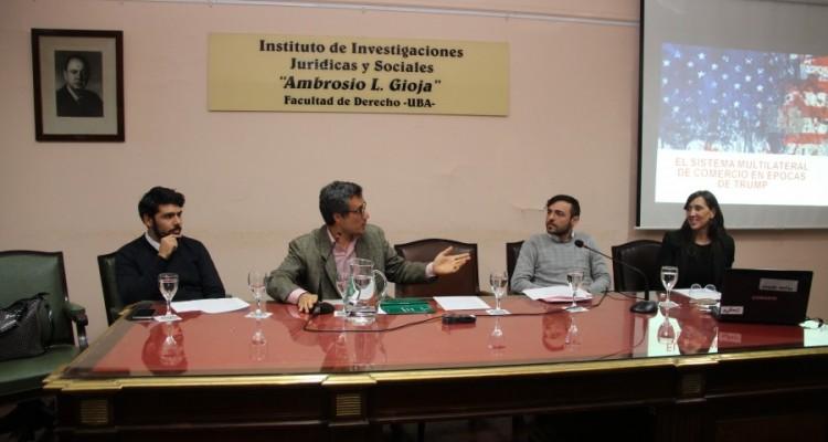 Rubén O. Romero, Santiago Deluca, Leandro Baltar y Manuela Moccero