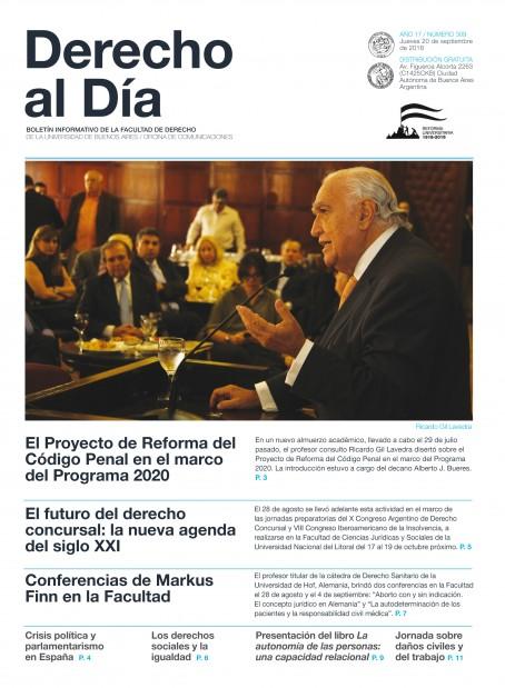 Tapa de Derecho al Día - Edición 309