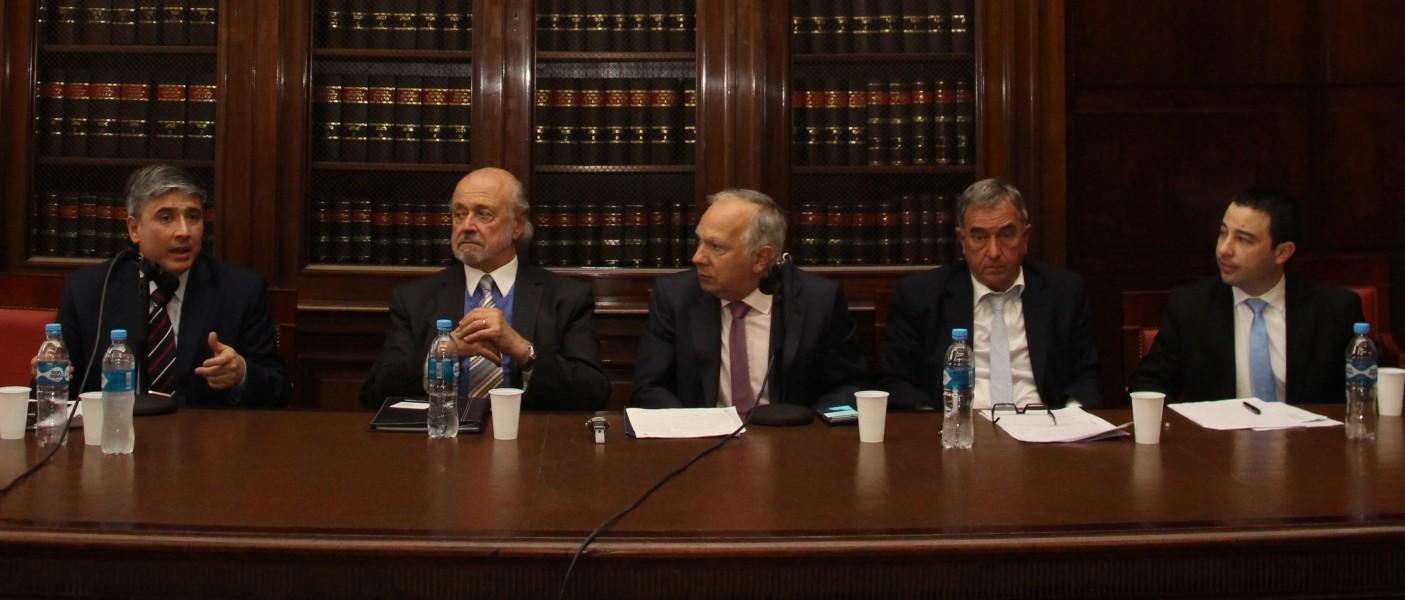 Paulo Maresca, Eduardo Sirkin, Omar Díaz Solimine, Gustavo Del Blanco y Ismael Lofeudo