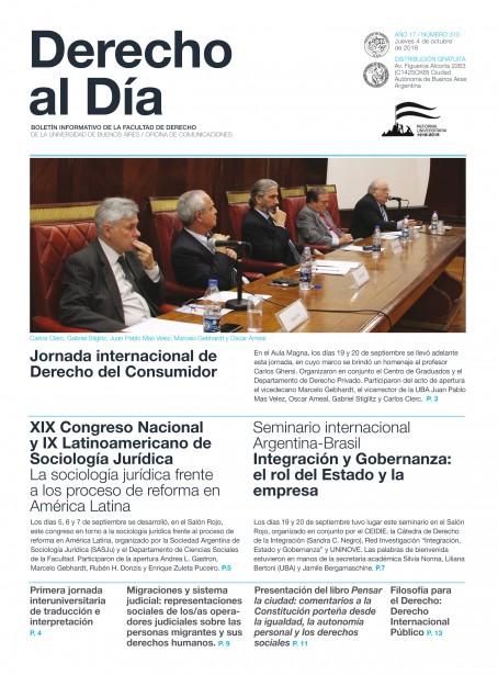 Tapa de Derecho al Día - Edición 310