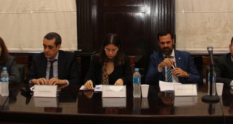 Sandra C. Negro, Carlos Ramírez, Luciane Klein Vieira, Alfredo López Bravo y Eduardo Cardoza