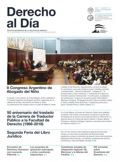 Tapa de Derecho al Día - Edición 312