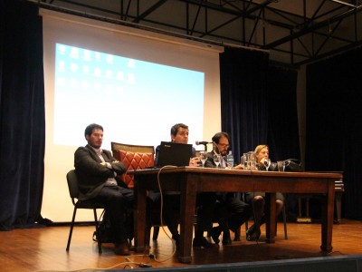 Nicolás Vargas, Gonzalo Rua, Cristian Penna y Laura Zysedkind