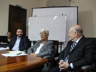 Juan Pablo Mugnolo, Mónica Pinto y Miguel Ángel Maza