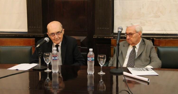 Miguel Ángel Ciuro Caldani y Ricardo Guibourg