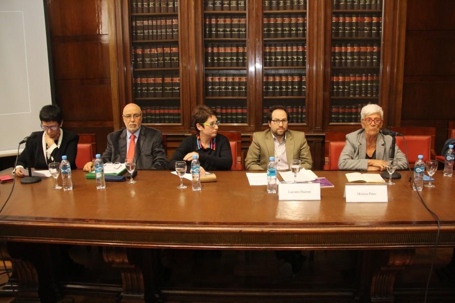 Marta Vigevano, Horacio Ravenna, Valeria Barbuto, Luciano Hazan y Mónica Pinto