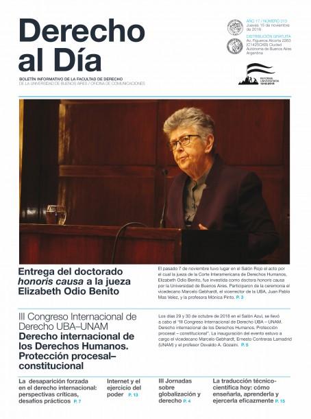 Tapa de Derecho al Día - Edición 313