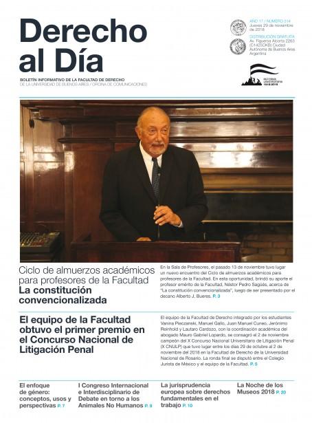 Tapa de Derecho al Día - Edición 314