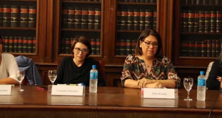 Mariela Labozzetta, Luciana Sánchez, Alba Rueda y Diana Maffía