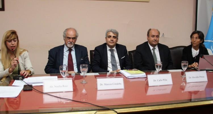 Noelia Ruiz, Marcos Córdoba, Carlo Pilia, Osvaldo Pitrau y Jorgelina Guilisasti