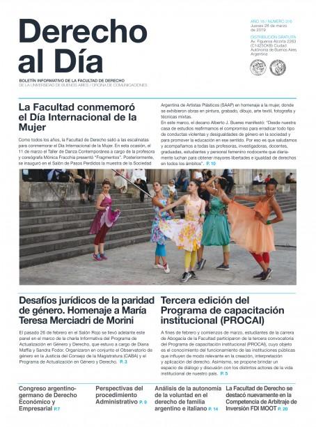 Tapa de Derecho al Día - Edición 316