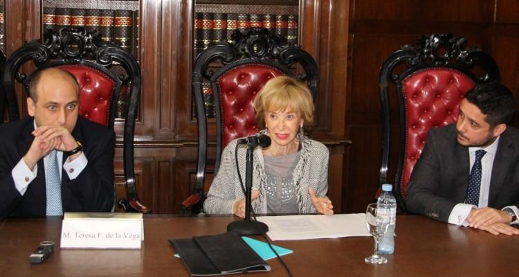 Alberto Spota, María Teresa Fernández de la Vega y Leandro A. Martínez