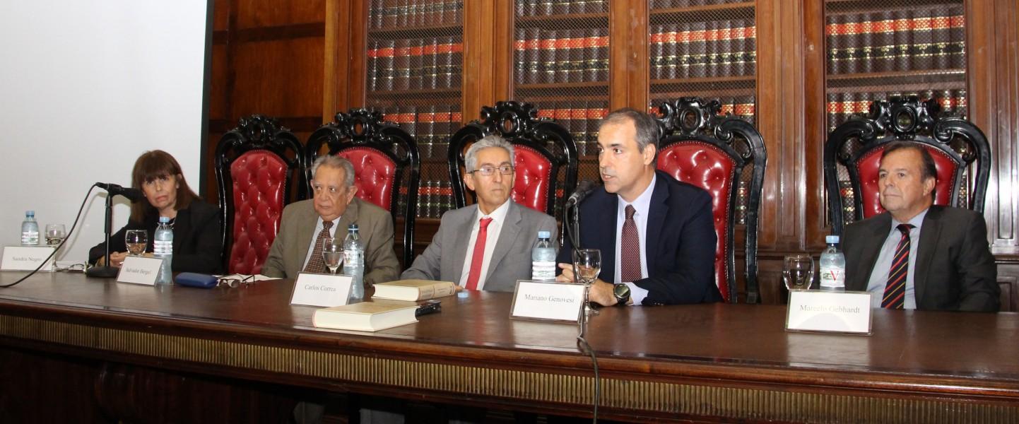 Sandra Negro, Salvador Bergel, Carlos M. Correa, Mariano Genovesi y Marcelo Gebhardt