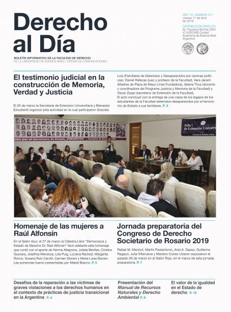 Tapa de Derecho al Día - Edición 317