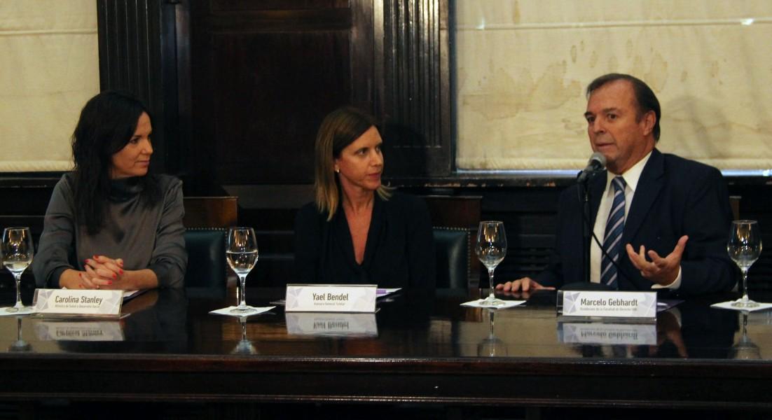 Carolina Stanley, Yael Bendel y Marcelo Gebhardt