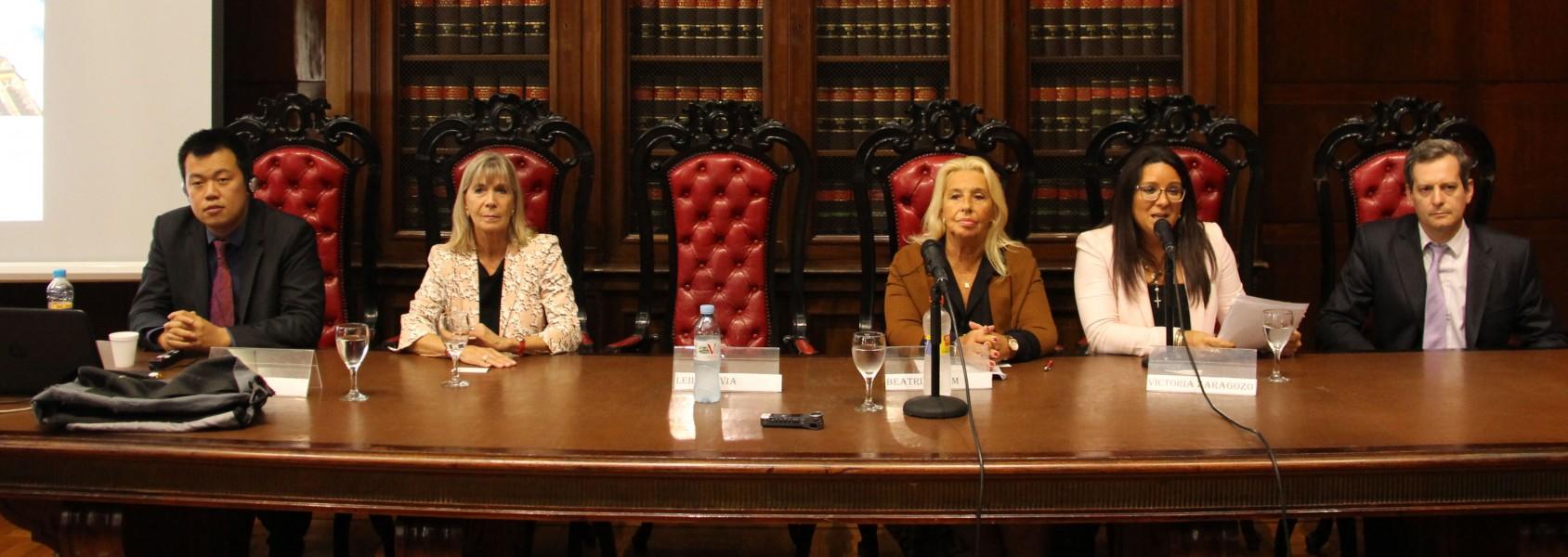 Nengye Liu, Silvia Nonna, Beatriz Krom, María Victoria Zarabozo Mila y Mariano Damián Ferro