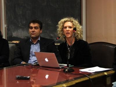 La apertura del ciclo tuvo lugar en el SUM del Instituto Gioja, con la presencia del director del Departamento de Ciencias Sociales.