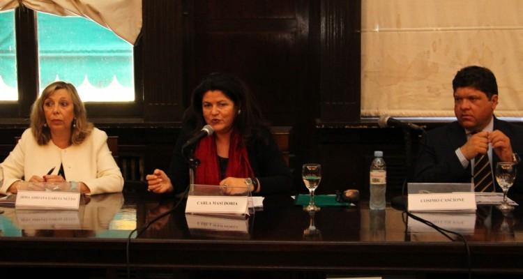 Irma Adriana García Netto, Carla Masi Doria y Cosimo Cascione