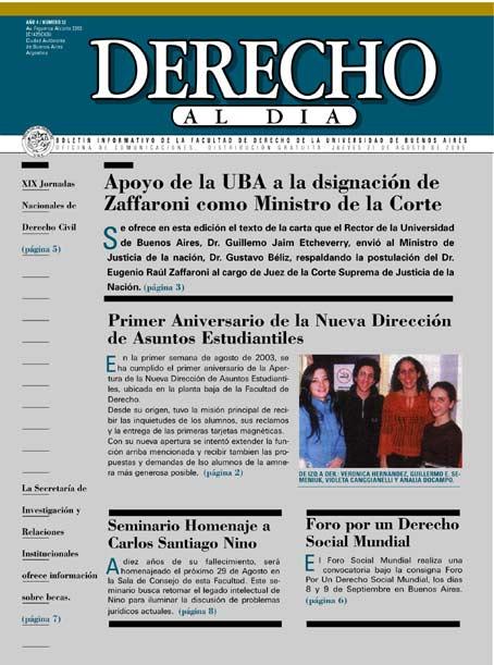 Tapa de Derecho al Día - Edición 32