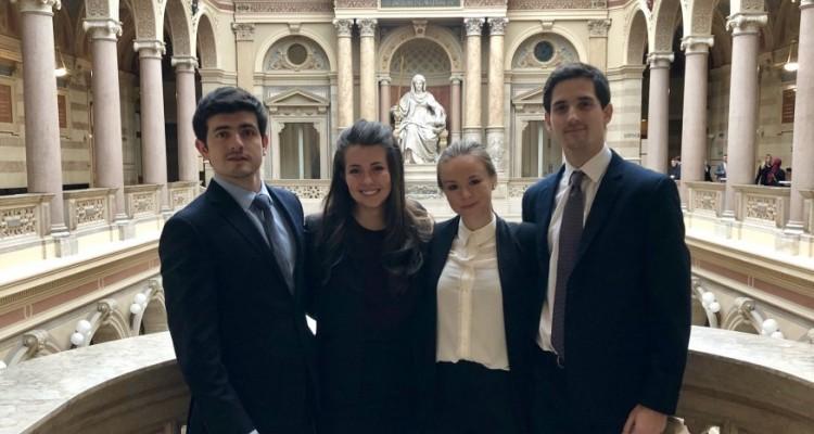 Hugo Bruzone, Manuela Díaz, Valentina Biondi Grané y Juan Pablo Blasco