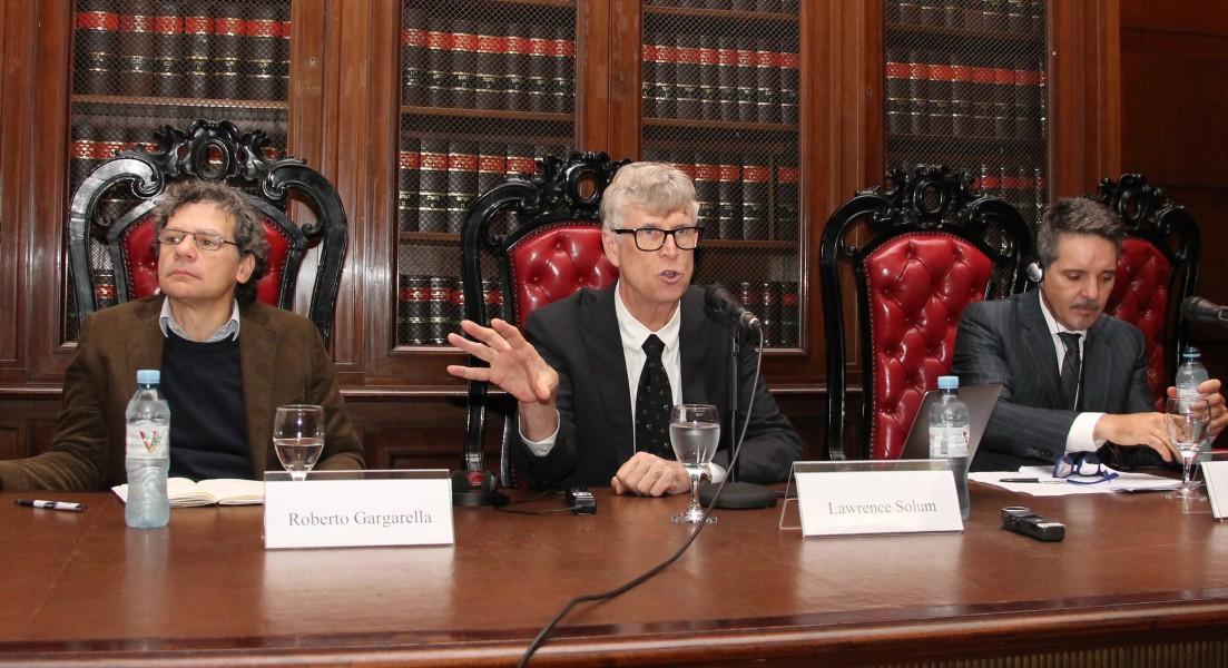 Roberto Gargarella, Lawrence Solum y Juan Pablo Alonso