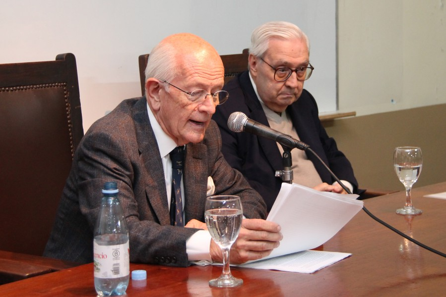 Martín D. Farrell y Ricardo Guibourg