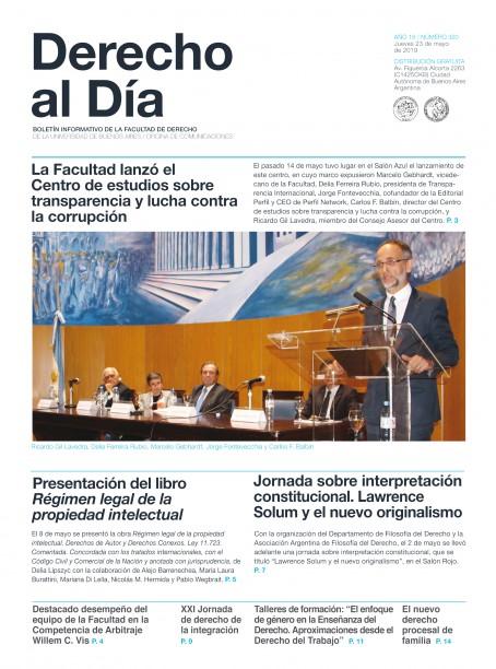 Tapa de Derecho al Día - Edición 320