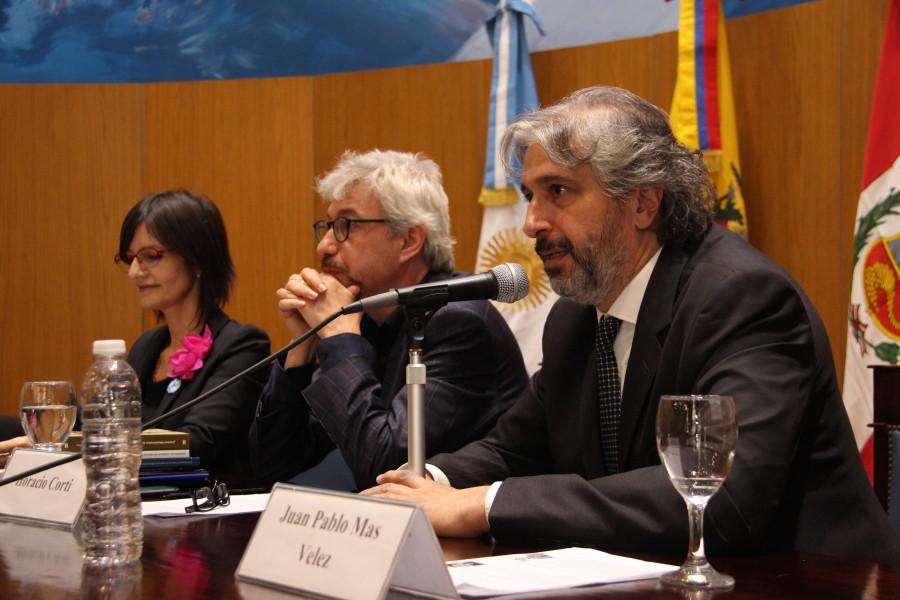 Silvia Bianco, Horacio Corti y Juan Pablo Mas Velez