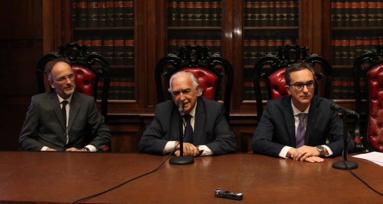 Carlos Balbín, Ricardo Gil Lavedra y Mateo Bermejo