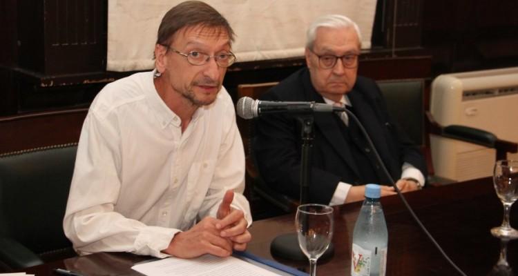 Claudio Martyniuk y Ricardo Guibourg