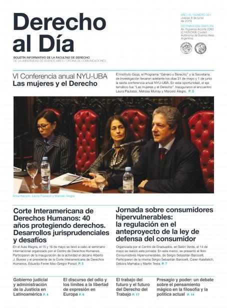 Tapa de Derecho al Día - Edición 321