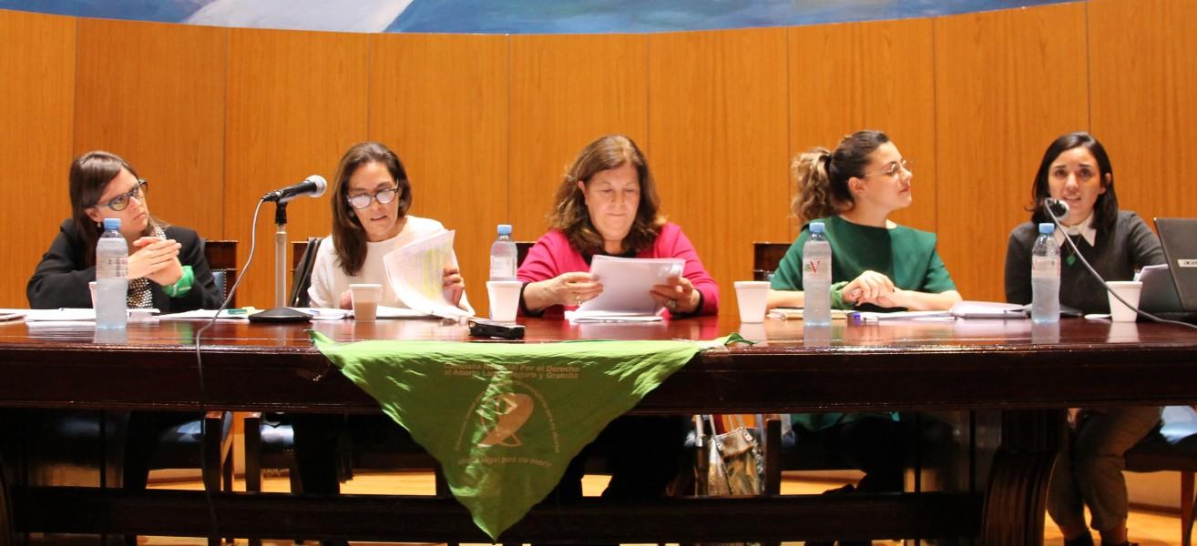 Brenda Austin, Carla Carrizo, Carmen Storani, Tamara Hall y María Belén Dileo