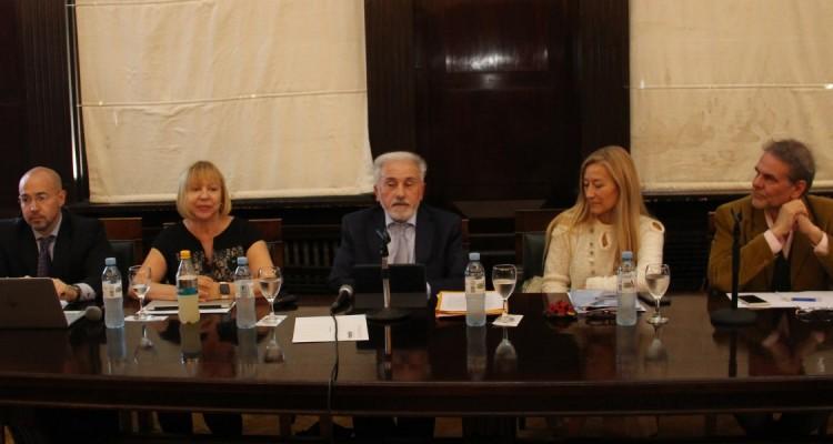 Leandro Merlo, Graciela Medina, Jorge C. Berbere Delgado, María Silvia Villaverde y Enrique del Percio.