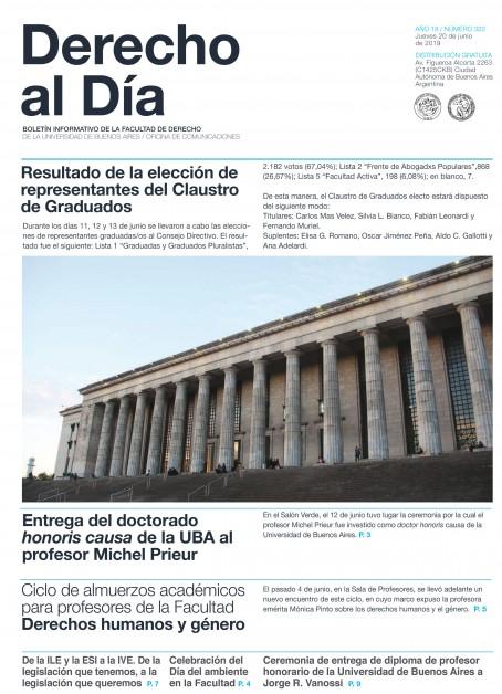 Tapa de Derecho al Día - Edición 322