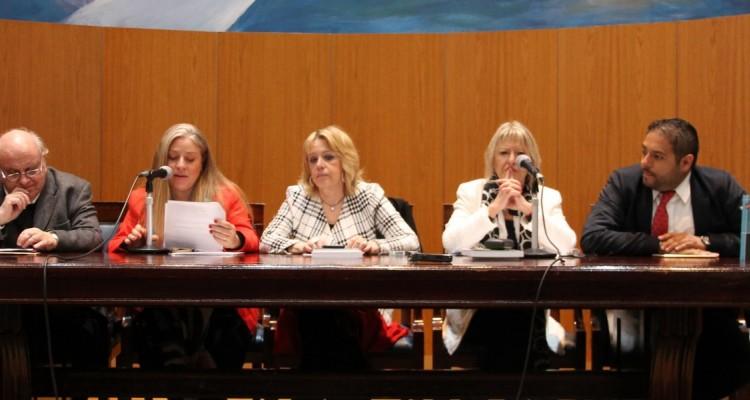 Oscar Ameal, Lorena Maggio, Celia Weingarten, Graciela Lovece y Arnulfo Sánchez García