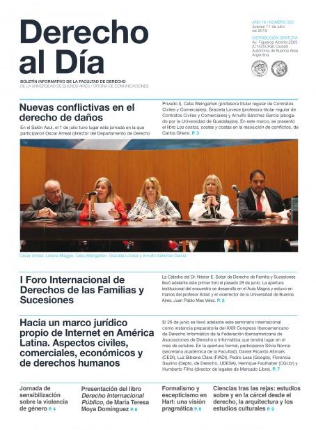 Tapa de Derecho al Día - Edición 323