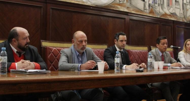Juan José Cappannari, Javier López Biscayart, Fabricio Lanzillotta, Cristian Scoponi y María Laura Arenas