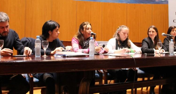 Matías Lammens, Natalia Stringini, Andrea Gastron, Romina Stampone, Melina María Sol González y Melisa García